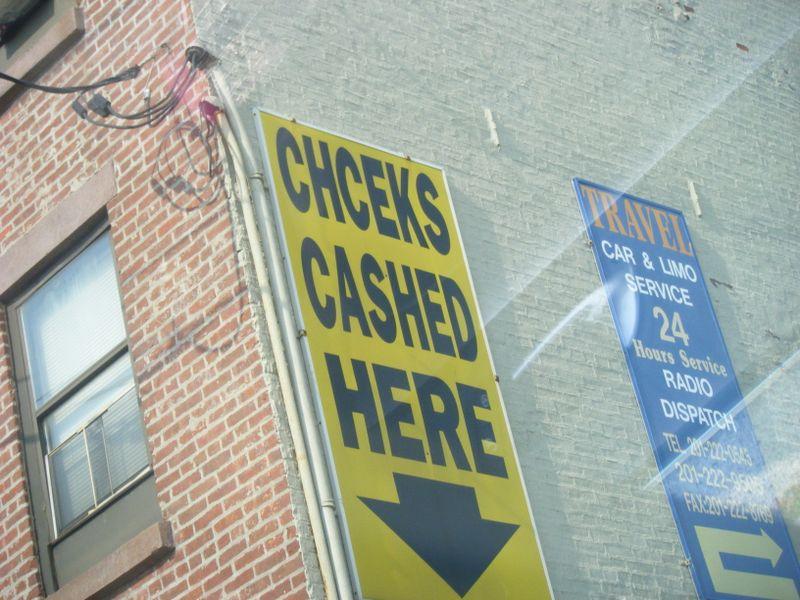 Chceks Cashed