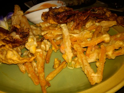 China_Soft Shell Crab with pumpkin fries